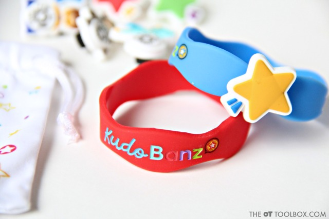 Make potty training meaningful and motivating with a toileting reward system like a sticker chart on the wrist.