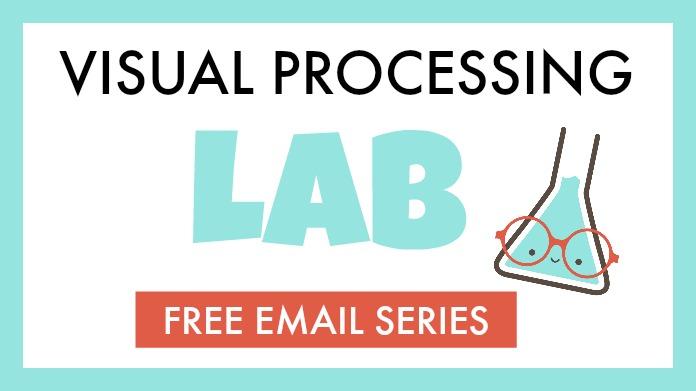 Visual processing lab and free email series that explains visual motor skills, visual perceptual skills, and eye-hand coordination.