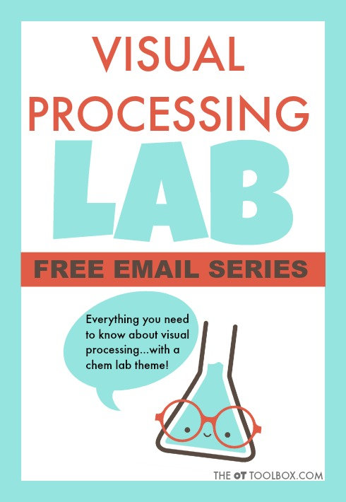 Visual processing lab for information on visual perception, visual-motor integration, oculomotor skills, and more.