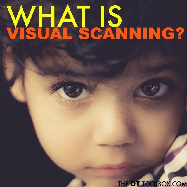 What is visual scanning? Read more information about visual scanning or visual saccades that are needed for reading, play, and everything we do!