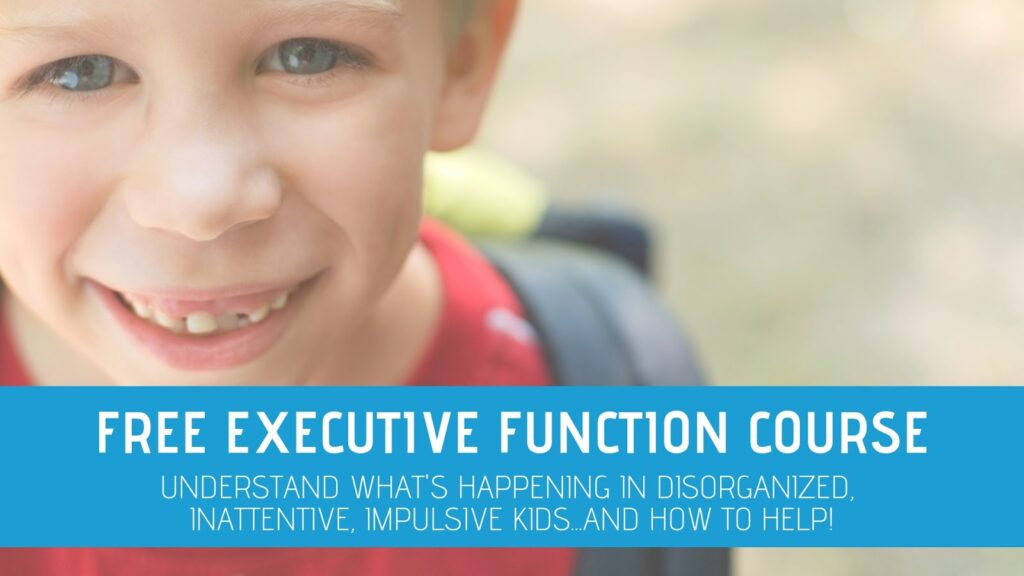 Free executive function course for occupational therapists.