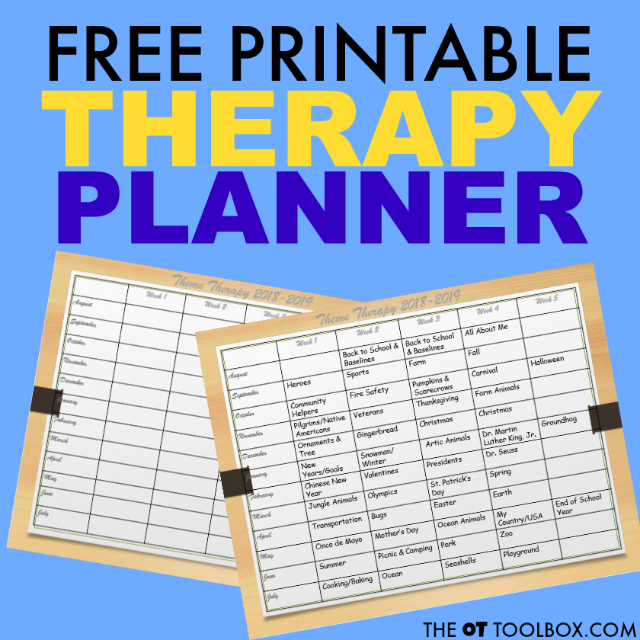 Therapy planner that occupational therapists will love