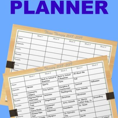 Therapy Planner for the Upcoming School Year