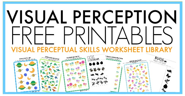 Free visual perception packet for occupational therapists to use in telehealth or OT activities.