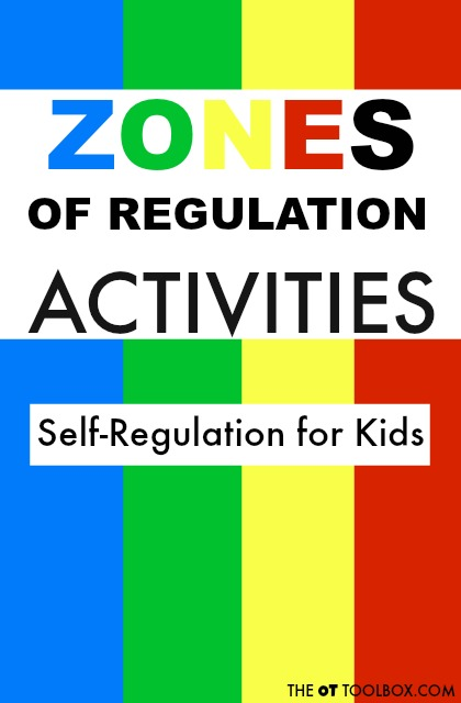 Use  these Zones of Regulation activities to help kids understand the zones and self-regulation as they learn coping strategies that can help with self-regulation.
