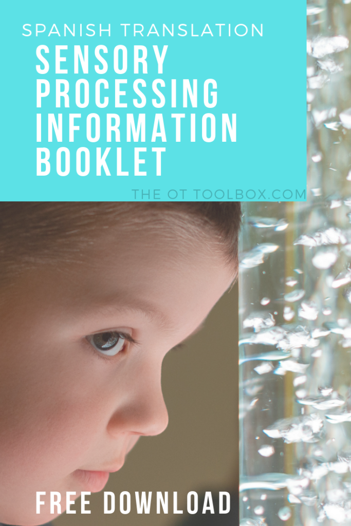 Print this free Spanish resource for explaining sensory processing with a spanish translation.