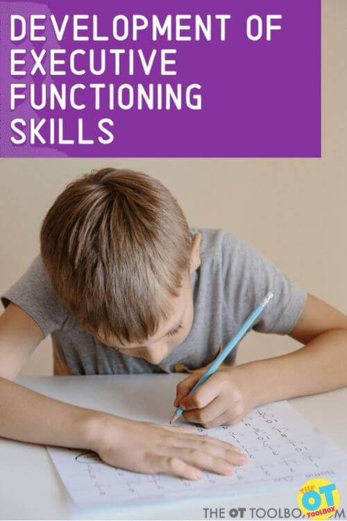 Development of executive functioning skills