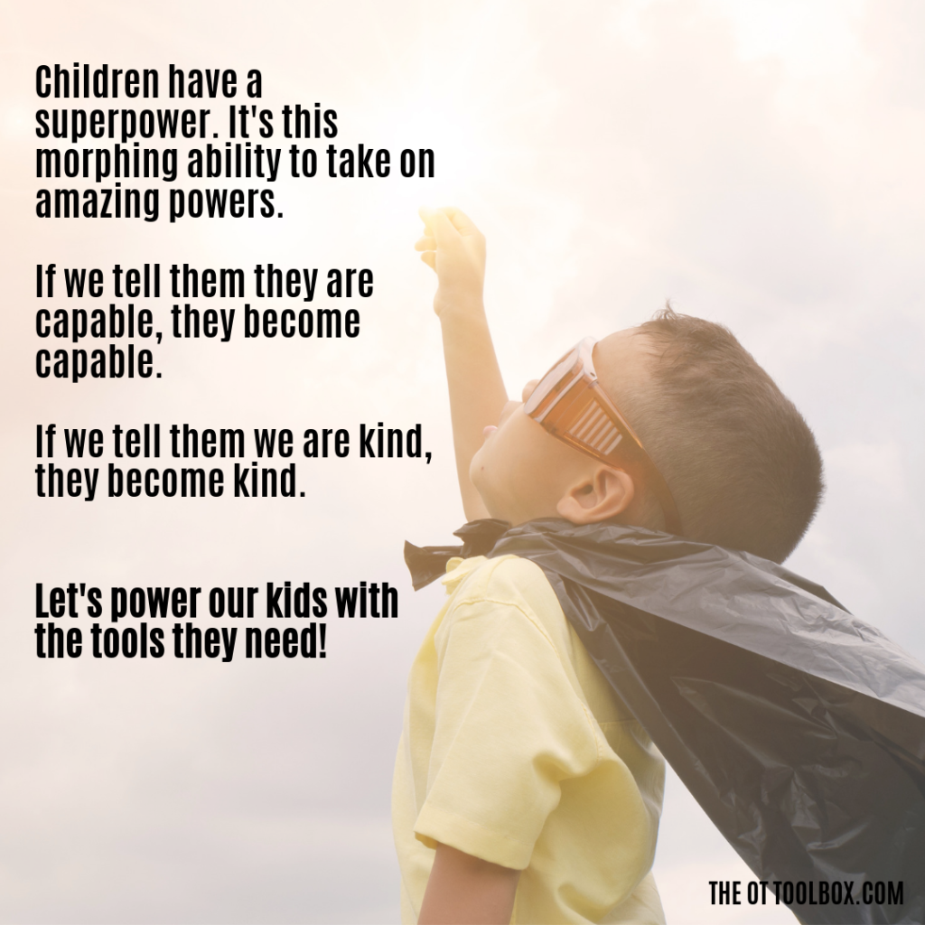 Sensory meme: Child super powers. Kids are capable!