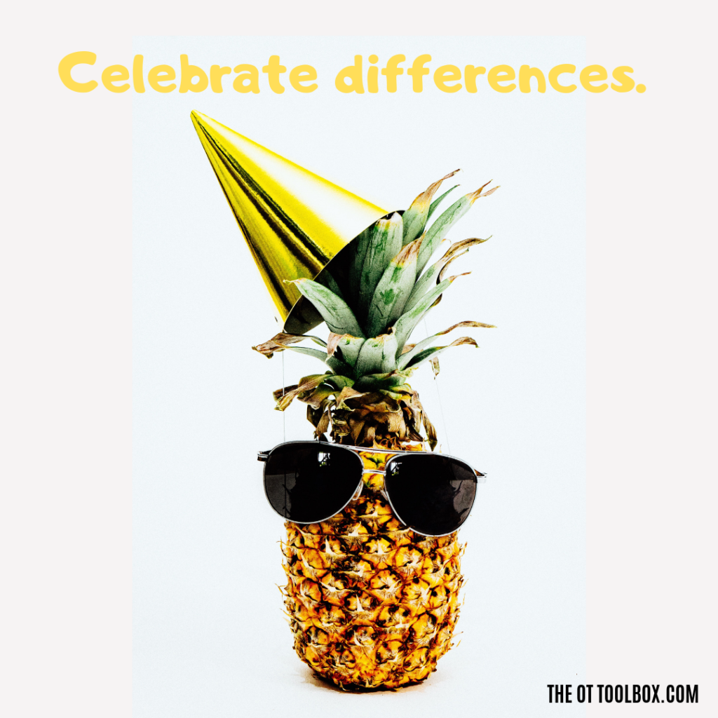 Sensory meme: Celebrate differences!