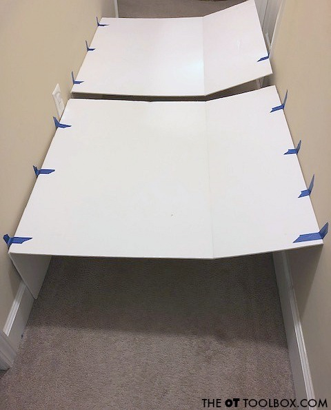 DIY tunnel activity using cardboard boxes