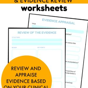 Evidence based review and appraisal worksheets The OT Toolbox