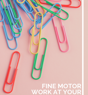 Fine Motor Activities with Paper Clips