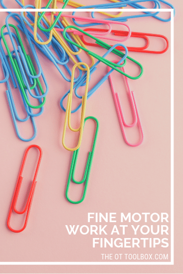 Kids can develop and strengthen fine motor skills using these fine motor activities with paper clips!