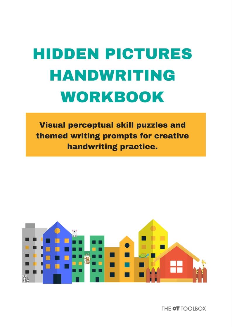 hidden pictures handwriting workbook The OT Toolbox