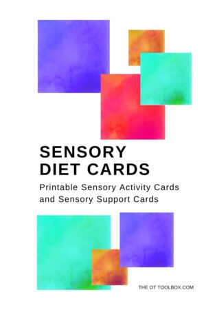 Sensory Diet Cards - The OT Toolbox