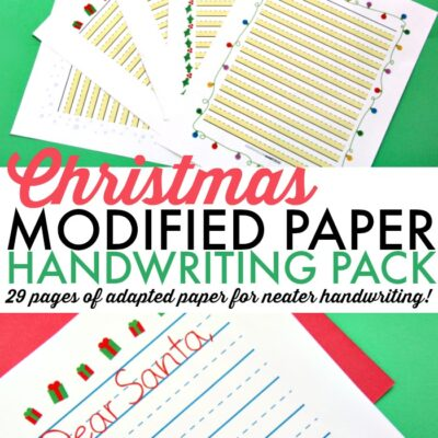 Modified Paper Christmas Handwriting Pack