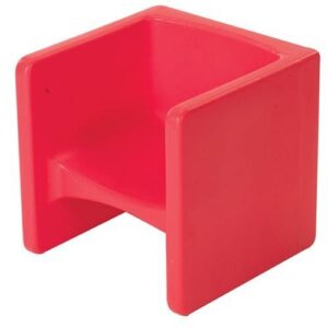 A cube chair is a seating option that meets sensory needs in the classroom.