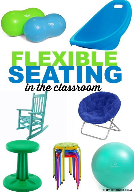 flexible seating in the classroom with out of the box ideas that kids will love for learning.