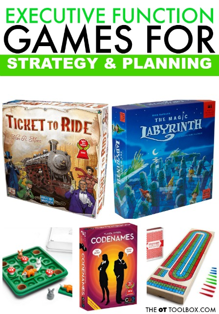 Use these games for improving executive function skills like planning, prioritization, strategy, and other executive functioning skills.