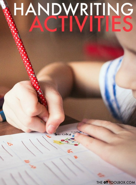 Handwriting activities kids will love to do to work on legibility of writing.
