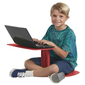 A portable laptop stand is a fun idea for flexible seating in the classroom.