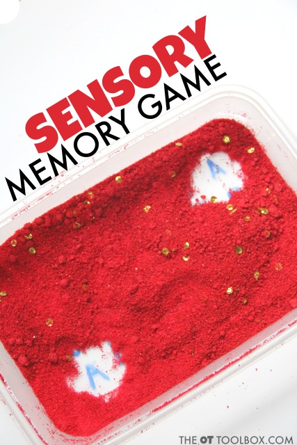 Visual Memory Game with a sensory bin