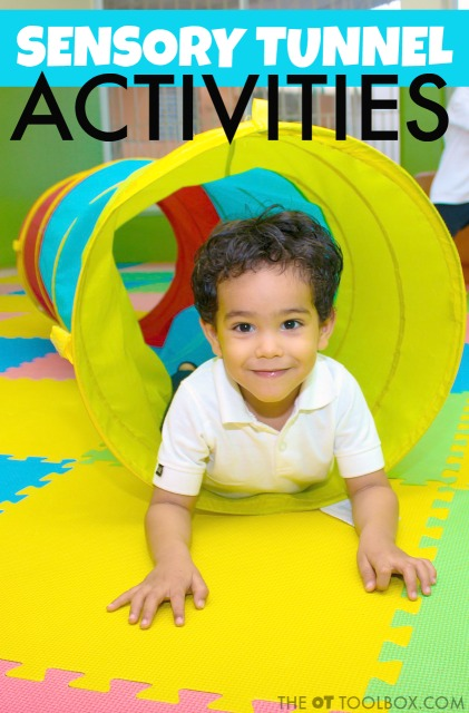 Use these play tunnel activities to improve motor skills and sensory activities.