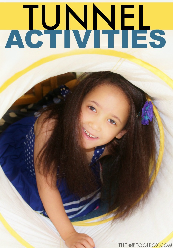 Play tunnel activities using a sensory tunnel