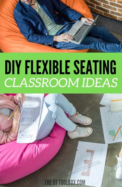 DIY flexible seating can be a way to modify the classroom with inexpensive seating options.