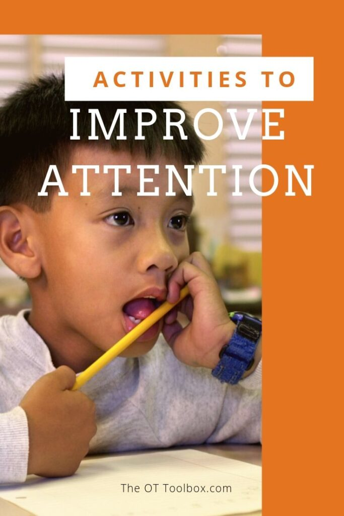Activities to improve attention