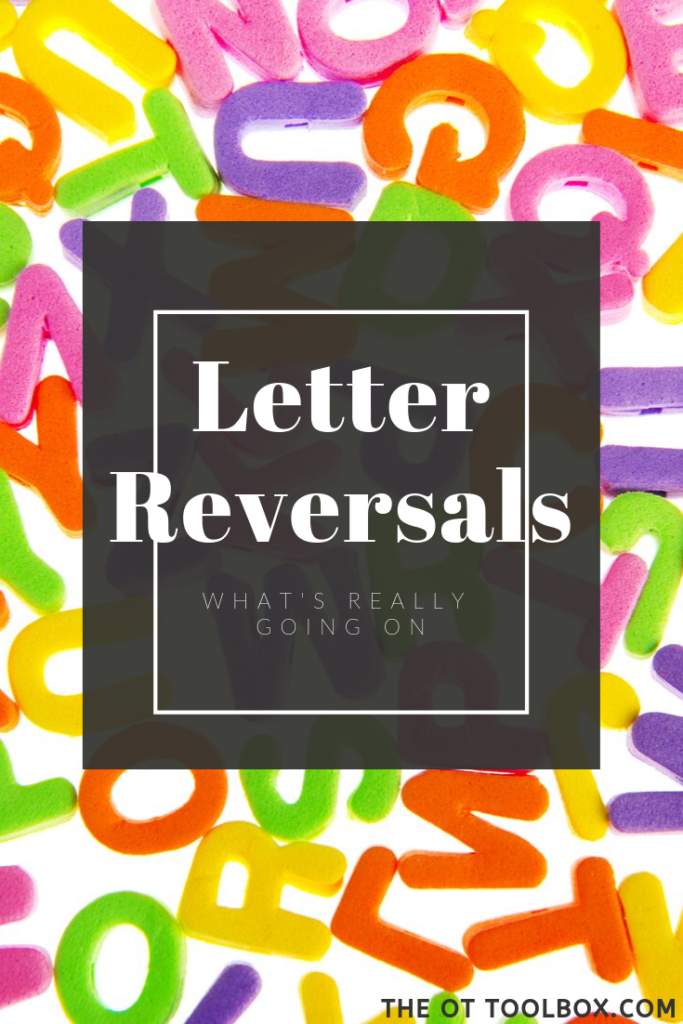 Letter reversals such as switching b and d or writing letters and numbers backwards can be a result of various things. Here is information on letter reversals.