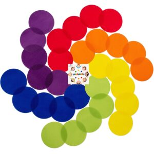 Use circle dots or carpet squares as a flexible seating option in classrooms.
