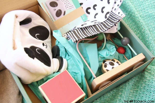Panda crate from Kiwi Crate, a great gift idea for babies.