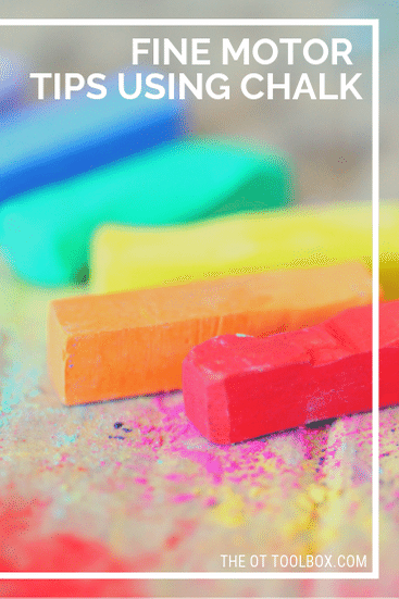 Use these fine motor activities using chalk to improve skills kids need.
