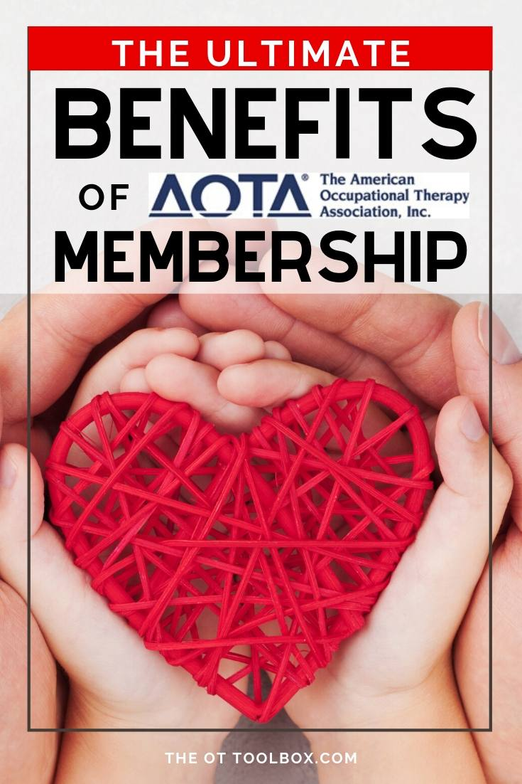 Benefits of AOTA membership for occupational therapists