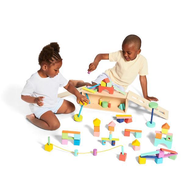 use blocks to work on fine motor skills and imagination