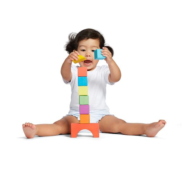 building with blocks help development of visual motor skills and fine motor skills