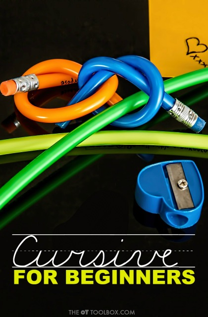 Use these tips to teach cursive when working on cursive writing for beginners.