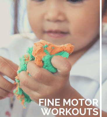 Fine Motor Activities with Play Dough