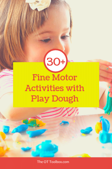 Use play dough to improve fine motor skills with these fine motor activities using play dough.