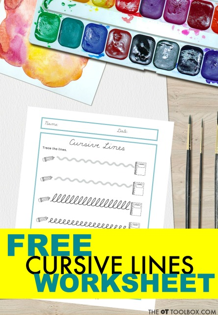 free cursive writing worksheet is great for teaching cursive to beginners.