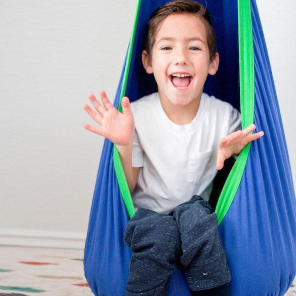 Use a therapy swing to help kids with sensory processing