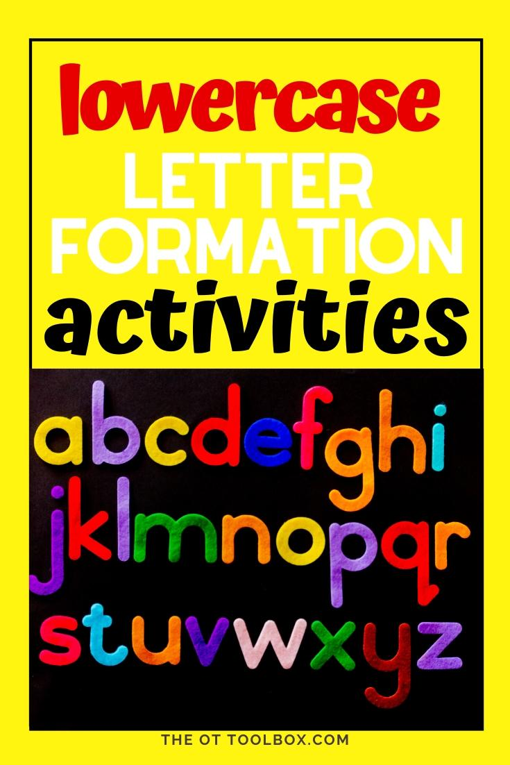 lowercase letter formation activities