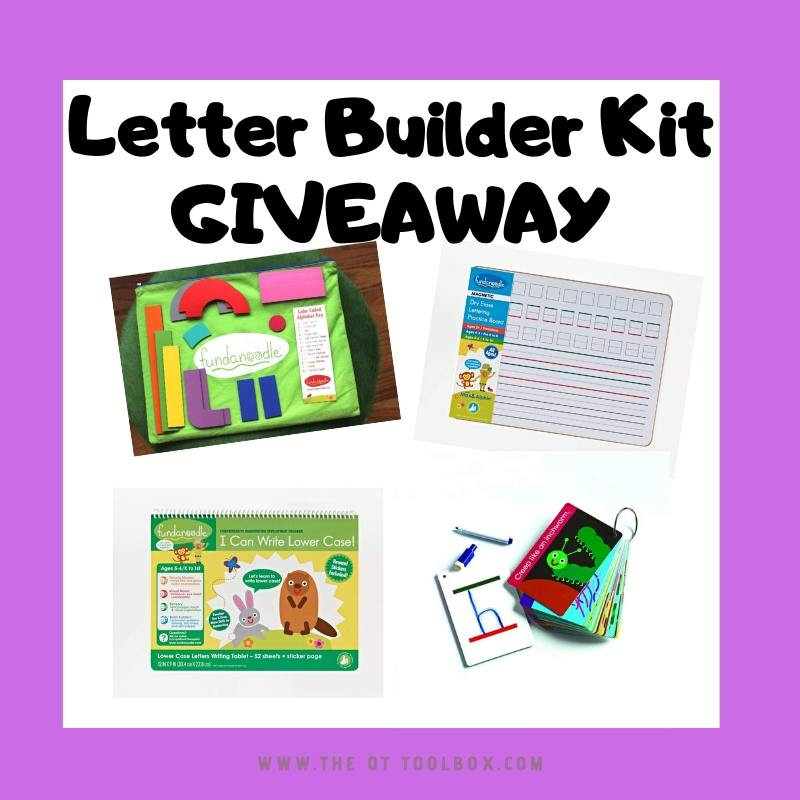 letter builder kit giveaway for therapy giveaway prize