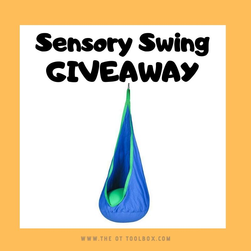 Therapy giveaway Harkla sensory swing