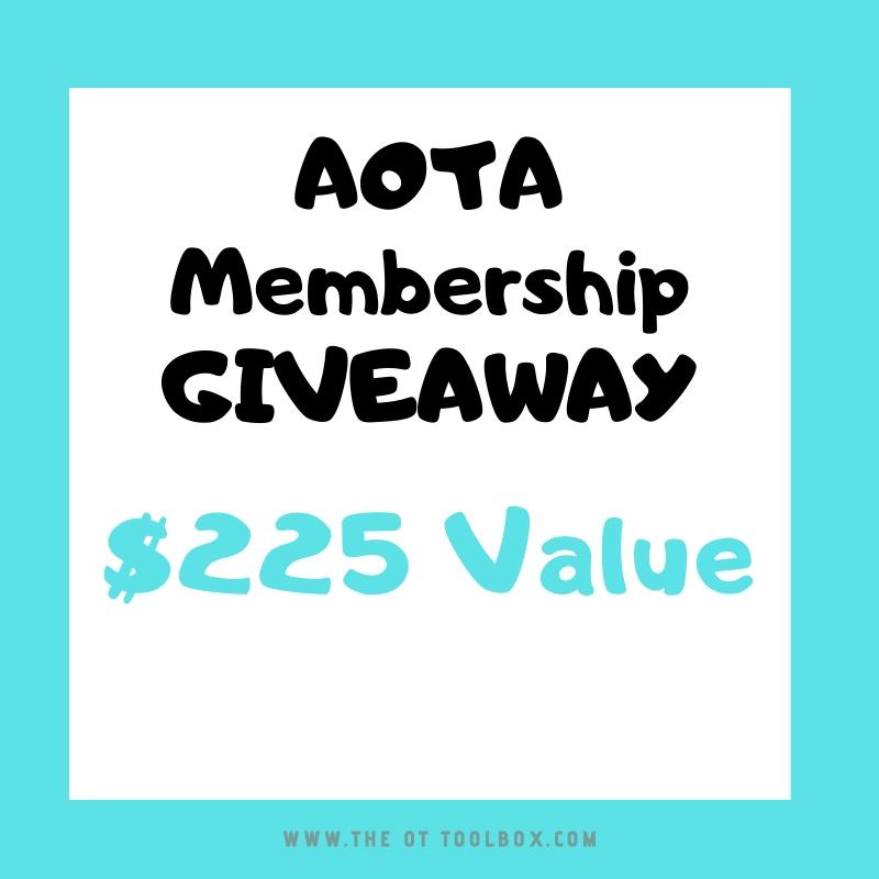 Free AOTA membership therapy giveaway