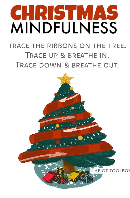 Christmas mindfulness activity for kids during the holiday season.