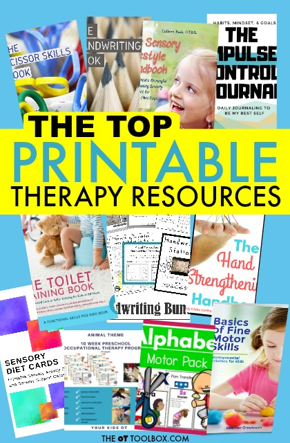The best therapy resources and occupational therapy worksheets.