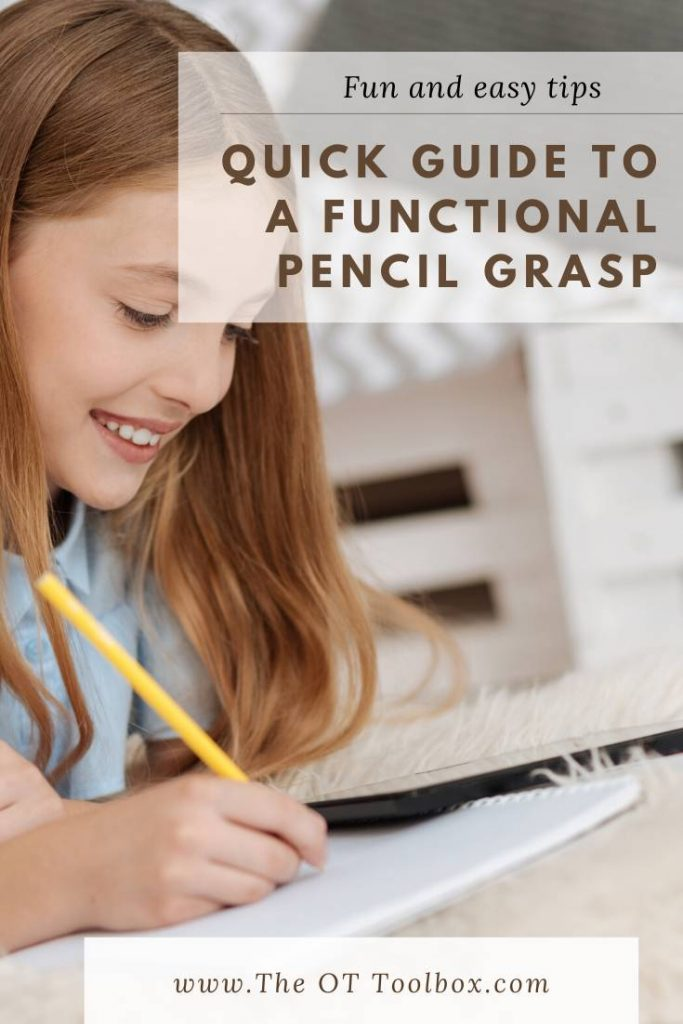 A quick guide to understanding pencil grasp and exactly what a functional pencil grasp is