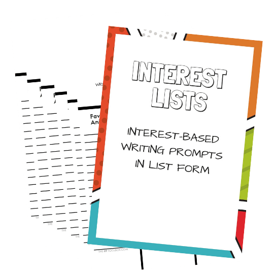 Interest lists writing prompts